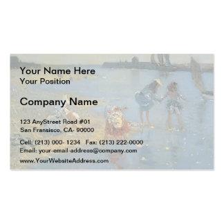 Philip Wilson Steer-Walberswick. Children Paddling Business Card
