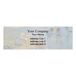 Philip Wilson Steer-Walberswick. Children Paddling Business Cards