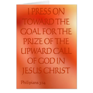Philipians 3:14 card