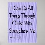 Philipians 4:13 poster
