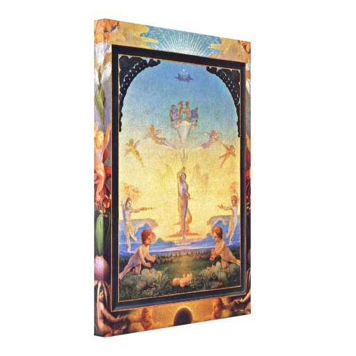 Philipp Otto Runge - The morning Stretched Canvas Prints