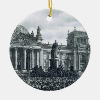 Philipp Scheidemann (1865-1939) gives an address f Ornament