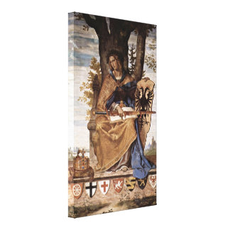 Philipp Veit - Allegorical figure of Germania Canvas Print