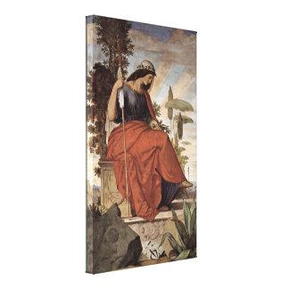 Philipp Veit - Allegorical figure of Italia Canvas Print