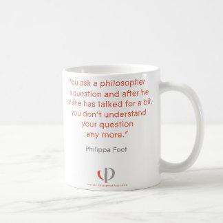 Philippa Foot Quote Mug