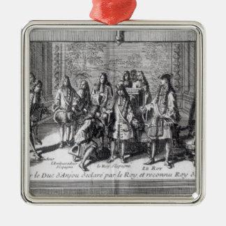 Philippe de France  Duke of Anjou Metal Ornament
