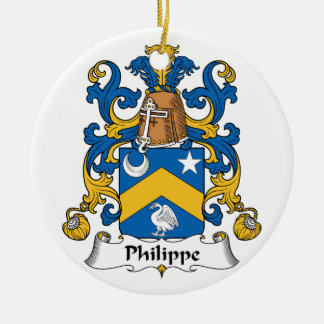 Philippe Family Crest Christmas Tree Ornaments