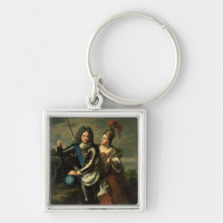 Philippe II d'Orleans  the Regent of France Silver-Colored Square Keychain