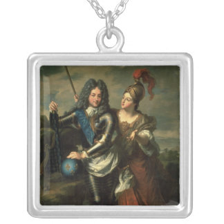Philippe II d'Orleans  the Regent of France Silver Plated Necklace