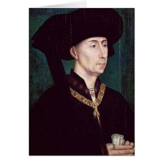 Philippe III  le Bon, Duc de Bourgogne, c.1445 Card