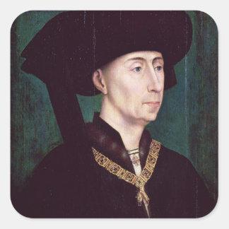 Philippe III  le Bon, Duc de Bourgogne, c.1445 Square Sticker