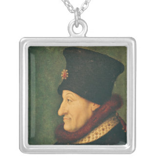 Philippe of France  Duke of Burgundy Silver Plated Necklace