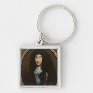 Philippe of France  Duke of Orleans Silver-Colored Square Keychain