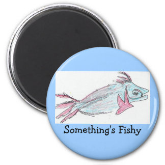Philippe' - Something's Fishy 2 Inch Round Magnet
