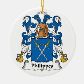 Philippes Family Crest Christmas Ornaments