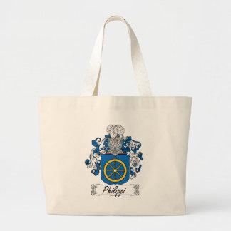 Philippi Family Crest Large Tote Bag