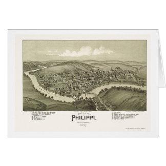 Philippi, WV Panoramic Map - 1897 Greeting Card