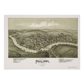 Philippi, WV Panoramic Map - 1897 Poster