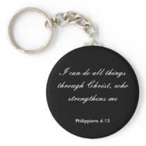 Philippians4:13,I can do all things through Christ Keychain
