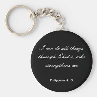 Philippians4 13 puedo hacer todas las cosas a tr llavero personalizado