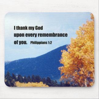 Philippians 1:2 mouse pad