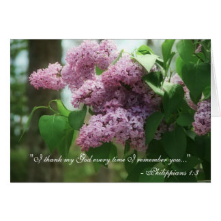 Philippians 1:3 Mother's Day Lilacs Card