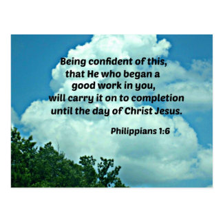 Philippians 1:6 Being confident of this, ... Postcard