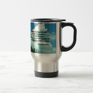 Philippians 1:6 Being confident of this, ... Travel Mug