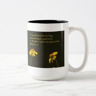 Philippians 1:6 coffee mug
