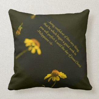 Philippians 1:6 throw pillows