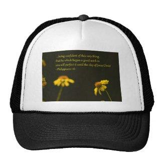 Philippians 1:6 trucker hat