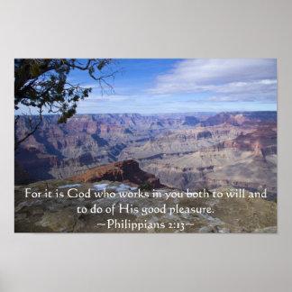 Philippians 2:13 poster