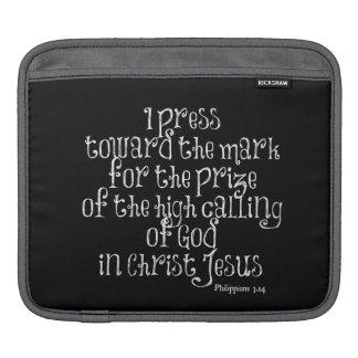 Philippians 3.14 Bible Verse iPad Sleeve