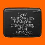 Philippians 3.14 Bible Verse MacBook Sleeve