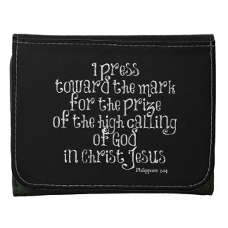 Philippians 3.14 Bible Verse Tri-fold Wallet