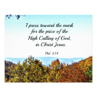 Philippians 3:14 I press toward the mark... Letterhead