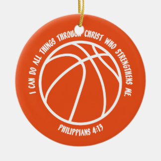 PHILIPPIANS 413 Double-Sided CERAMIC ROUND CHRISTMAS ORNAMENT