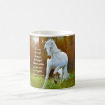 Philippians 4:13 All things through Christ, Horse Coffee Mug