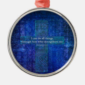 Philippians 4:13 BIBLE VERSE Metal Ornament
