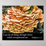 Philippians 4:13 Bible Verse Poster