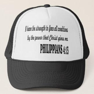 PHILIPPIANS 4:13 Bible verse. Trucker Hat