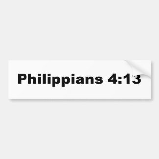 Philippians 4:13 car bumper sticker