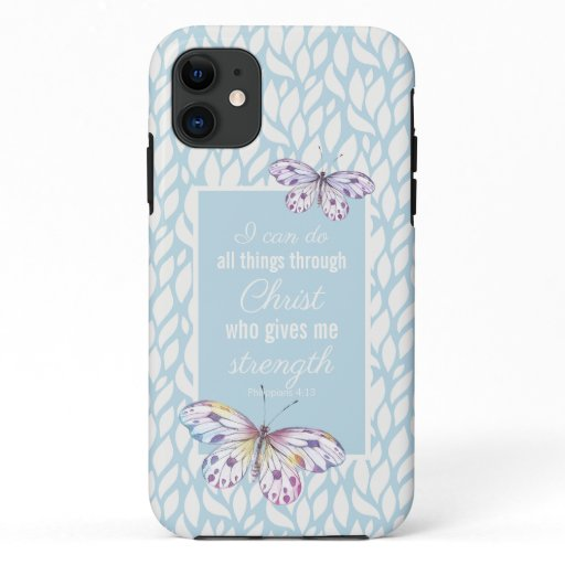 Philippians 4:13 Butterfly iPhone / iPad case
