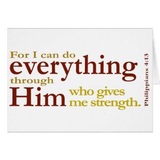 Philippians 4:13 card
