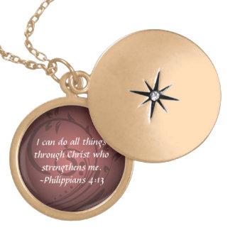 Philippians 4:13 Christian Bible Necklace Pendant