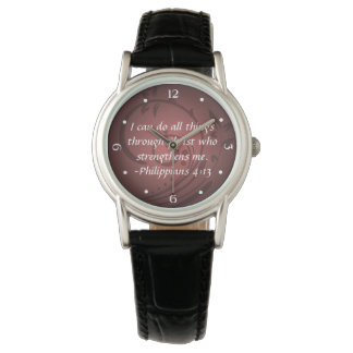 Philippians 4:13 Christian Bible Verse Watches