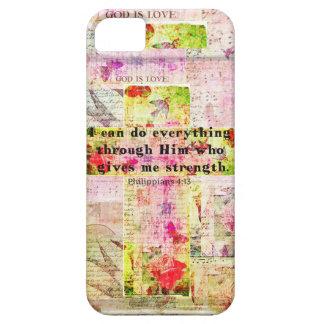 Philippians 4:13 christian spiritual art BIBLE iPhone SE/5/5s Case