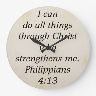 philippians 4:13 wallclock