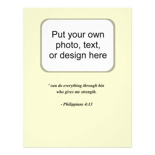 PHILIPPIANS 4:13 FLYER DESIGN