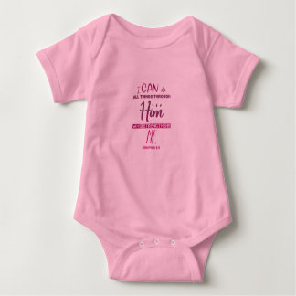 Philippians 4:13 – I Can Do All Things - Baby Gift Baby Bodysuit